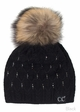 Angora Wool Knit Beanie Hat from CC Brand inset 1