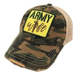 Army Wife Patch Baseball Hat