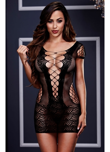 Baci Criss Cross Net Dress