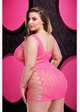 Baci Pink Lace Dress with Criss Cross Sides inset 3