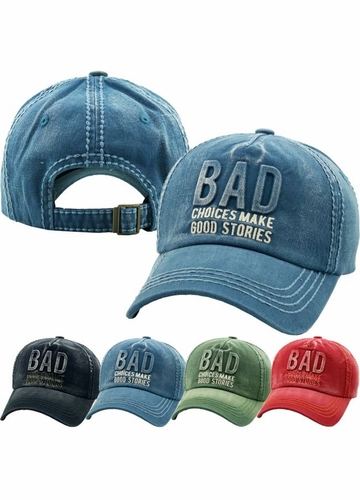 Bad Choices Make Good Stories Denim Vintage Baseball Hat