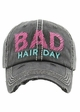 Bad Hair Day Embroidered Baseball Hat inset 1