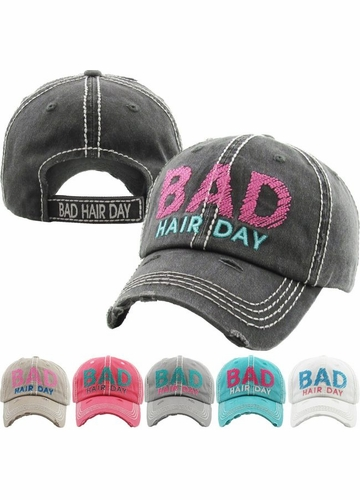 Bad Hair Day Embroidered Baseball Hat