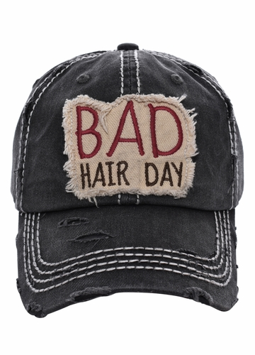 Bad Hair Day Washed Vintage Baseball Cap