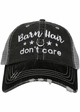 Barn Hair Don't Care with Stars Trucker Hat inset 2