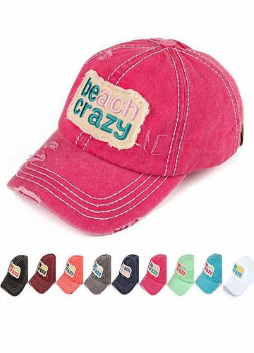 Beach Crazy Patch Baseball Hat