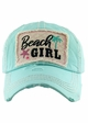 BEACH GIRL Washed Vintage Baseball Hat inset 1
