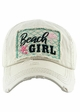 BEACH GIRL Washed Vintage Baseball Hat inset 2
