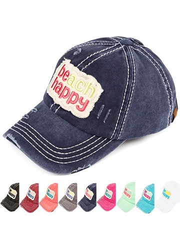 Beach Happy Patch Baseball Hat