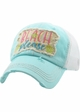 Beach Please Seashell Trucker Hat inset 4