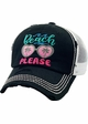 BEACH PLEASE Vintage Meshback Baseball Hat inset 3