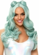 Beachy Long Wavy Wig with Bangs in Blue inset 1