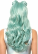 Beachy Long Wavy Wig with Bangs in Blue inset 2