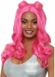 Beachy Long Wavy Wig with Bangs in Pink inset 2