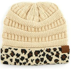 Beige CC Beanie Hats, Gloves and Scarves