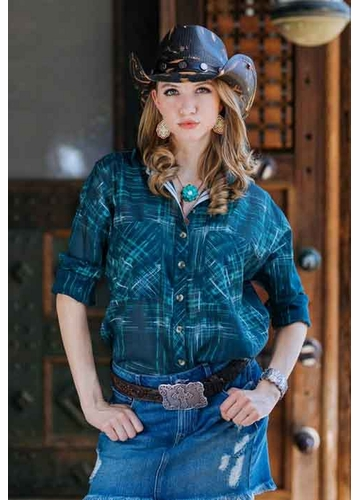Black Distressed Cowgirl Hat
