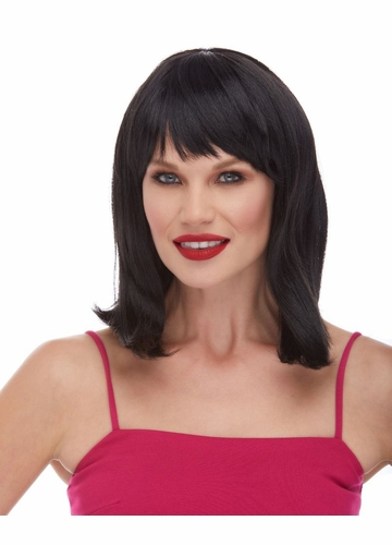 Black Tapered Bob Wig Doll