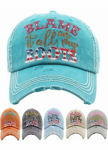 Blame It All On My Roots Vintage Hat