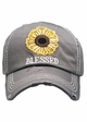 Blessed Sunflower Patch Washed Vintage Baseball Cap inset 4