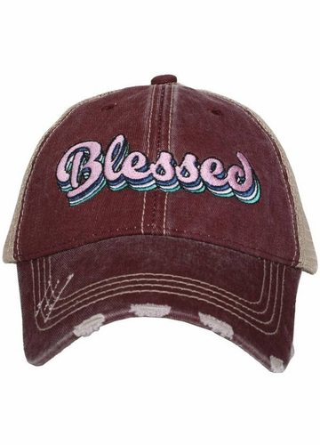 Blessed Trucker Hat with Layered Font