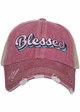 Blessed Trucker Hat with Layered Font inset 3