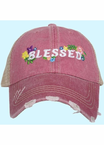 Blessed with Flowers Trucker Hat