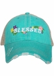 Blessed with Flowers Trucker Hat inset 2