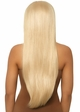 Blonde Long Straight Wig with a Center Parted inset 1