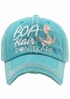 Boat Hair Don't Care Baseball Hat inset 1