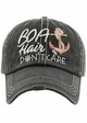 Boat Hair Don't Care Baseball Hat inset 2