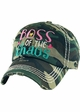 Boss of the Chaos Vintage Patch Baseball Hat inset 1