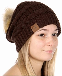 Brown CC Beanie Hats, Gloves and Scarves