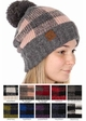 Buffalo Checker Lined CC Beanie Hat with Pom inset 1