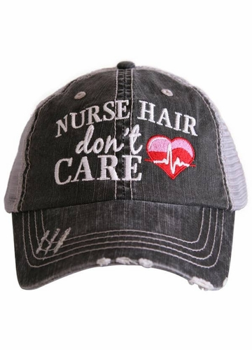 Nurse Hair Don't Care Trucker Hat