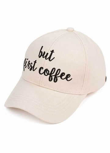 But First Coffee CC Brand Baseball Hat