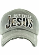 BUT FIRST JESUS Washed Vintage Ballcap inset 3