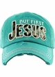 BUT FIRST JESUS Washed Vintage Ballcap inset 4