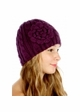 Cable Knit CC Beanie Hat with Crochet Flower inset 1