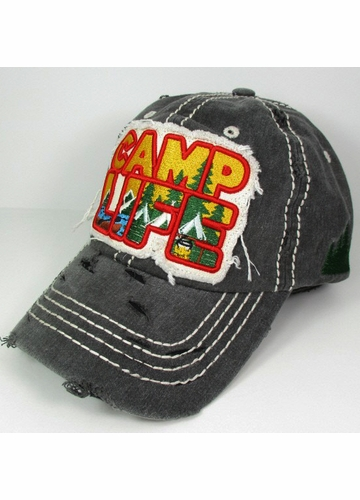 Camp Life Embroidered Patch Hat