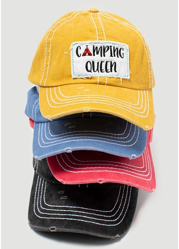 Camping Queen Patch Baseball Cap