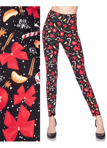 Candy and Ribbons Peach Skin Leggings