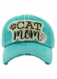 Cat Mom Vintage Wash Baseball Hat inset 1