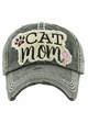 Cat Mom Vintage Wash Baseball Hat inset 2