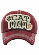 Cat Mom Vintage Wash Baseball Hat inset 3