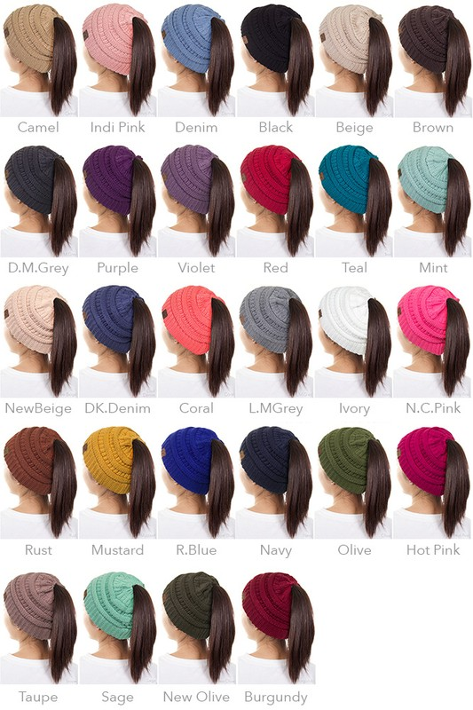 89d863b35ae ... CC Beanie Hat with Open Ponytail inset 4