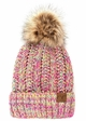 CC Beanie Hat with Warm Lining and Pom Pom in Multi Color inset 2