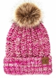 CC Beanie Hat with Warm Lining and Pom Pom in Multi Color inset 3