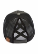 CC Cross Band Ponytail Trucker Hat in Black inset 2