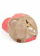CC Cross Band Ponytail Trucker Hat in Coral inset 1