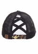 CC Cross Band Ponytail Trucker Hat in Leopard inset 1